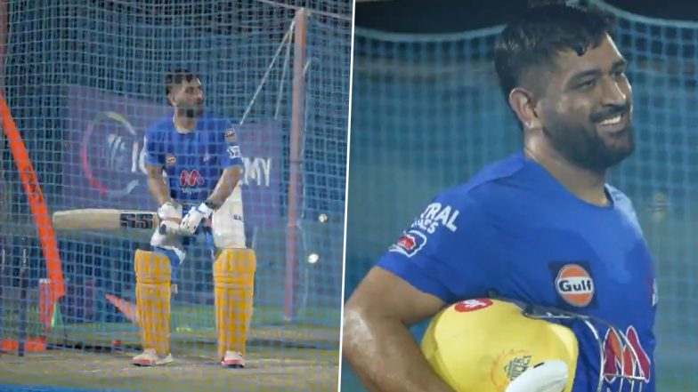 IPL 2021: MS Dhoni Looks Out for the Ball in the Bushes After Slamming Towering Sixes (Watch Video)