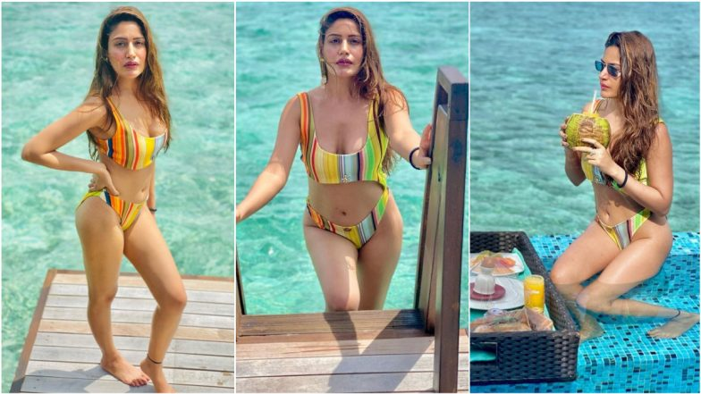 Wowza! Hottie Surbhi Chandna Looks Incredible in This Colourful Cut-Out One-Piece Swimsuit, View Sexy Pics