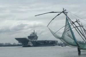 Made-in-India INS Vikrant Sails Out From Kochi for 4-Day Training
