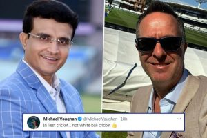 Michael Vaughan Corrects Sourav Ganguly's Tweet on Indian Team Being 'Better Than the Rest', Writes, 'In Test Cricket, Not White Ball Cricket'