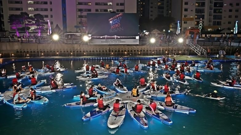 Busan International Film Festival 2021 Offers Crazy Movie-Watching Experience in Paddleboards at the Beach