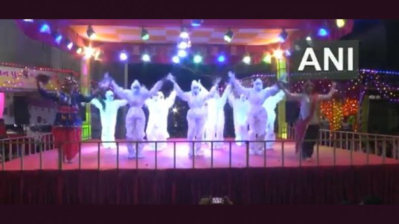Navratri 2021: Girls in PPE Kits Perform Garba Dance To Spread Awareness on COVID-19 in Rajkot (Watch Video)