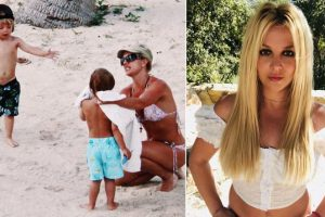 Britney Spears Shares 'Bittersweet' Journey of Watching Sons Grow Up With Throwback Clicks From Her Beach Vacay