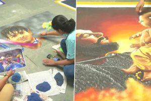 Gujarat: 77 Artists Make 125 Rangolis at Ajanta Art Gallery in Rajkot